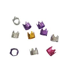 Anel Ajustável Coroa Color com 10 unidades - Lili Hair