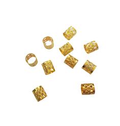 Anel Ajustável Dourado com 10 unidades - Lili Hair