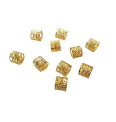 Anel Ajustável Meia Lua Dourado com 10 unidades - Lili Hair
