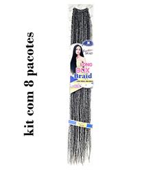 Cabelo Sintético FreeTress Box Braid Small com 8 pacotes - Lili Hair