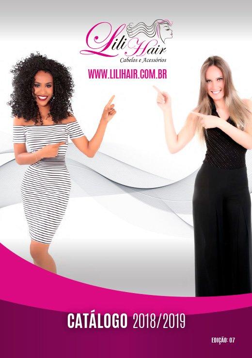capa do catálogo Lilihair 2019